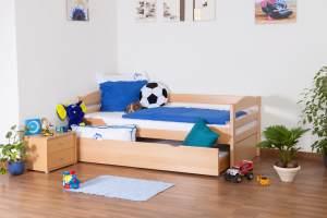 Einzelbett Easy Premium Line K1/h/s inkl. 2. Liegeplatz und 2 Abdeckblenden, natur