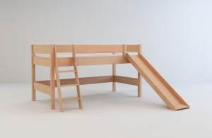 Mobi Furniture 'Nik' Halbhochbett 90x200 Buche massiv natur