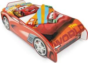 Leomark Autobett aus Holz - Sport Car - Kinderbett mit Matratze (140/70 cm)