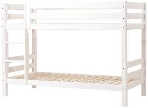 Hoppekids 'Premium' Etagenbett weiß, mit gerader Leiter, 90 x 200 cm, inkl. Lattenroste