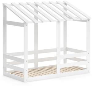 VitaliSpa 'Silvia' Hausbett, Weiß, 70x140cm, Massivholz Buche, inkl. Lattenrost und Rausfallschutz
