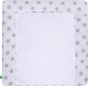 LULANDO 'Grey Stars/White' Wickelauflage 75 x 85 cm weiß/grau