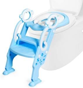COSTWAY Kinder Toilettensitz höhenverstellbar Blau