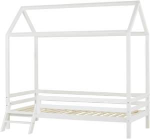 Hoppekids Hausbett-Modul mit Leiter für BASIC MY COLOR 90x200cm in weiß