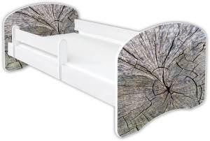 Clamaro 'Schlummerland Dekor' Kinderbett 80x160 cm, Design 13, inkl. Lattenrost, Matratze und Rausfallschutz (ohne Schublade)
