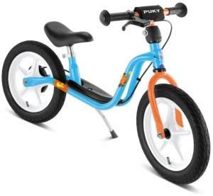 PUKY 2002 'LR 1L BR' Laufrad, für Kinder ab 90 cm Körpergröße, bis 25 kg belastbar, höhenverstellbar, inkl. Bremse, blau - Sonderedition: Die Maus