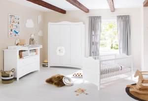 Pinolino 'Florentina' 3-tlg. Babyzimmer-Set weiß extrabreit groß