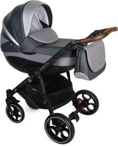 Clamaro Kombikinderwagen Creativo als Set 3in1 inkl. babyschale, Babywanne, Sportaufsatz mit Gel Reifen Creativo V/08