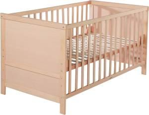 roba 'Lene' Kombi Kinderbett, natur, 70 x 140 cm, Lattenrost 3-fach höhenverstellbar