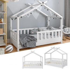 VitaliSpa 'Design' Hausbett 70x140 cm weiß, Massivholz