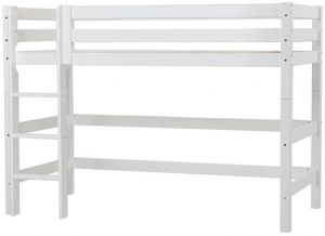Hoppekids 'Premium' Hochbett 90x200 cm, weiß, inkl. Rollrost, gerade Leiter, nachhaltig