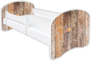 Clamaro 'Schlummerland Dekor' Kinderbett 80x180 cm, Design 6, inkl. Lattenrost, Matratze und Rausfallschutz (ohne Schublade)