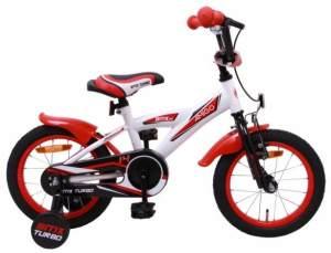 AMIGO BMX Turbo Fahrrad, 14 Zoll, Jungen, Weiß