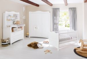 Pinolino 'Florentina' 3-tlg. Kinderzimmer extrabreit groß, inkl. extrabreitem Regalaufsatz