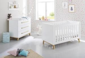 Pinolino 'Riva' 2-tlg. Babyzimmer-Set weiß