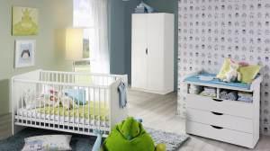Rauch 3-tlg. Babyzimmer-Set 'ALVARA 2' alpinweiß