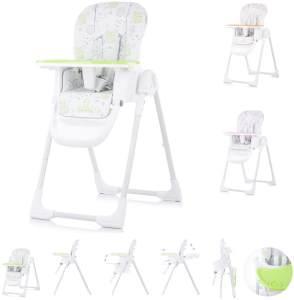Chipolino, Kinderhochstuhl Sweety, Sitz verstellbar, klappbar, Sicherheitsgurt grün