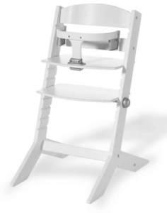 Geuther - mitwachsender Hochstuhl SYT 2337, TÜV geprüft, Sitzbrett verstellbar, Bauchbügel abnehmbar, Babyliege separat erhältlich, weiß