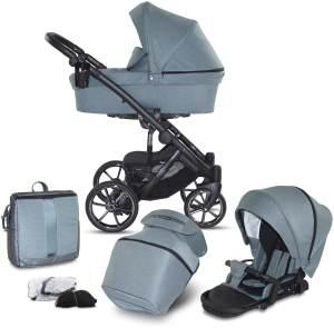 Knorr Baby 'SAIPAN' Kombikinderwagen 2 in 1 Petrol inkl. Sitz, Babywanne, Wickeltasche und Wetterschutz