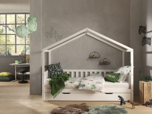 Vipack 'Dallas 1' Hausbett 90 x 200 cm, weiß, mit Bettschublade