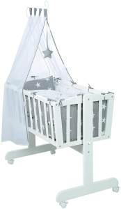 Roba 'Little Star' Babywiege weiß, inkl. Ausstattung