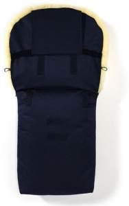 Hofbrucker - Lambskin footmuff for stroller Putzi navy blue