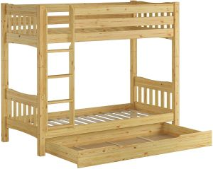 Erst-Holz Etagenbett Kiefer natur 90x200 inkl. Bettkasten