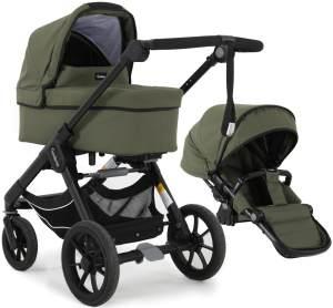 Emmaljunga 'NXT90 Classic' Kombikinderwagen 2 in 1 2022 Olive inkl. Babywanne und Sitz