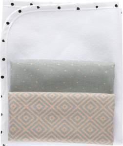 MOTHERHOOD Baby Wickelunterlage wasserdicht und luftdurchlässig inkl. 2 Moltonunterlagen aus 100 % Baumwolle, Quadrate apricot