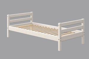 Flexa Classic Einzelbett, 90 x 190 cm | Weiß lasiert