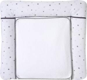 Schardt Wickelauflage mit abnehmbarer Frotteauflage, Sternchen grau 80 x 75 cm