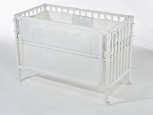 Roba Room Bed safe asleep 60x120 cm weiß, inkl. Ausstattung 'Sterne grau'