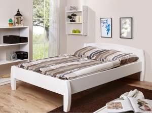 Ticaa 'Jasmin' Einzelbett 140 x 200 cm, Kiefer weiß