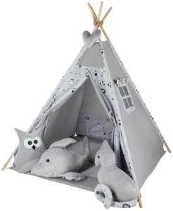 Kinderspielzelt Tipi Fadaa Spielzelt Zelt Megaset 5 Modelle Mädchen Junge by ChillyKids Cozy Dream 05