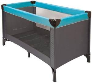 Nattou Reisebett für Babys mit Transporthülle, 120 x 60 x 75cm, 100% Polyester, Grau/Blau