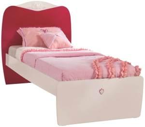 Cilek YAKUT Bett Kinderbett Kinderzimmer 90x190cm Weiß/Pink ohne