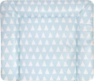 Julius Zöllner Wickelauflage Softy Triangel blau, 75x85 cm