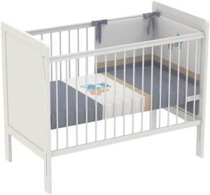 Polini Kids Kinderbett Babybett 120 x 60 cm Simple 220 weiß