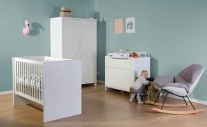 Childhome Quadro White Kinderzimmer 70 x 140 cm 2 Türen + 1 Schublade