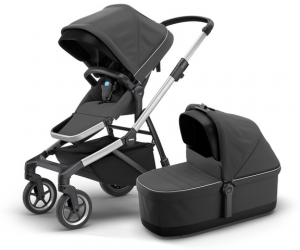 Thule - Sleek inkl. Thule Babywanne Aluminium Shadow Grey Kollektion 2020