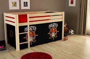 "Spielbett Pino mit Textilset ""Pirates"""