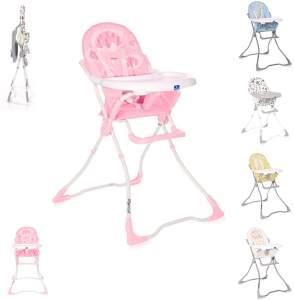 Lorelli Kinderhochstuhl Marcel, klappbar, Bechervertiefung, abwaschbarer Stoff pink