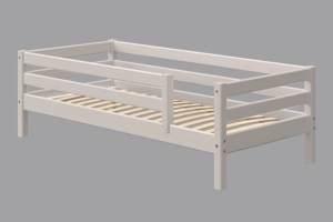 Flexa Classic Bett, mit 3/4 Absicherung und hinterer Absicherung 90 x 190 cm | Grau lasiert