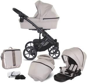 Knorr Baby 'SAIPAN' Kombikinderwagen 2 in 1 Sand Beige inkl. Sitz, Babywanne, Wickeltasche und Wetterschutz