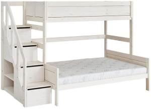 LIFETIME KIDSROOMS 'Family' Etagenbett 90/140x200 cm mit Treppe inkl. Deluxe Lattenrost 49741-01W