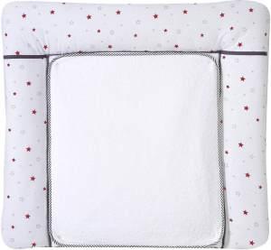 Schardt Wickelauflage mit abnehmbarer Frotteauflage, Sternchen rot 80 x 75 cm