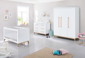Pinolino 'Riva' 3-tlg. Babyzimmer-Set weiß extrabreit, groß
