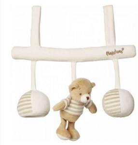Playshoes 305132 Hänge-Spielzeug Bär mit vielen Details, Länge circa 30 cm