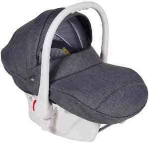 Clamaro Babyschale weiß/grau
