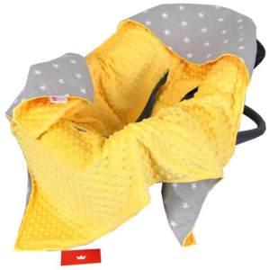 BabyLux 'Sterne' Einschlagdecke 90x90 cm, gelb